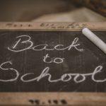 Image of chalkboard with Back to School written on it