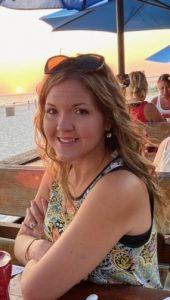 Image of Miranda and a sunset